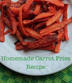 Homemade Carrot Fries... a great (and delicious) alternative to french fries!