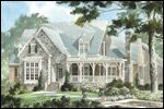 Architectural rendering of Elberton Way (a Southern Living house plan)