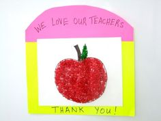 Labor Day We Love Our Teacher Craft! Celebrate Labor Day