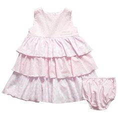 Young Versace ruffle dress and knickers set <3 babi dress, pink, babi cloth, gorgeous babi, ruffl dress, versac ruffl