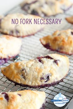 These mini hand pies baked with sugared blueberries, vanilla and Philadelphia Cream Cheese filling are the perfect mess-free dessert for a summer gathering! #recipe #dessert