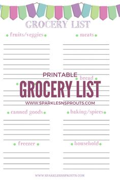 A Grocery List is a