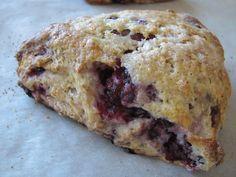 Almond Flour Blackberry Scones