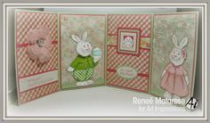 Anthonie (T4115), Kate (T4113), Bunny & Ducky Mini Set (4404), Smell Jelly Beans (C1677) and Block Happy Easter (G2868) Easter card with Art Impressions stamps.