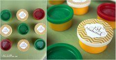 modern Eid circle stickers
