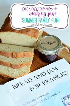 picking berries, making jam, summer family fun | simplykierste.com