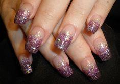 Glitter Fade French Nail Art