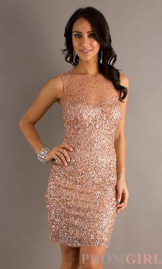 Sleeveless Sequin Dress, Morgan Sequin Homecoming Dress- PromGirl