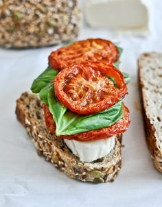 Roasted Tomato Caprese Grilled Cheese with Balsamic Glaze