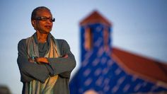 Daurene Lewis poses for portrait in front of the replica Seaview African United Baptist Church on Africville lands in Halifax in September 2011. (ADRIEN VECZAN / Staff)
