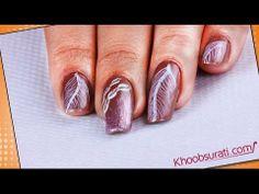 Feather Designed Nail Art By Khoobsurati.com