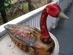 Joyce Howard's Blog.    Painted Strawberry Duck