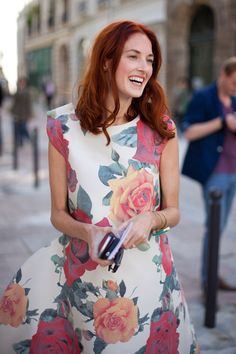 Taylor Tomasi Hill glows in bold florals.