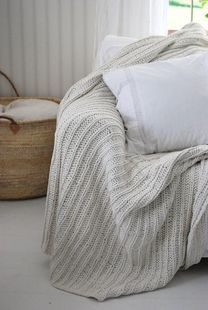 Knit blanket again! Green Wellies