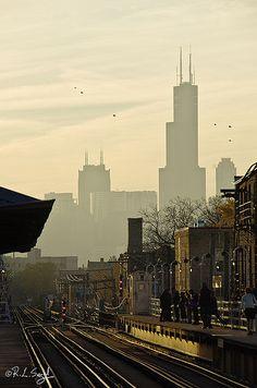 Damen El Station - Chicago
