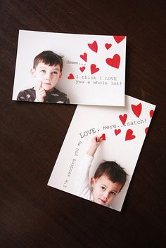 Photo idea for your Valentines - homemade valentine cards rock!
