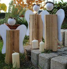 Drei engel aus holz basteln pinterest - Engel basteln holz ...