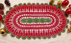 My Experiments with Needle n Thread: Christmas Garden Doily.