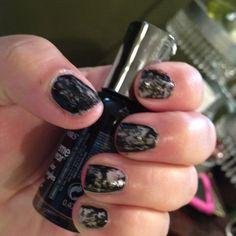 Sally Hansen wet cement / black out marble