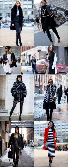 black and white #nyfw street style