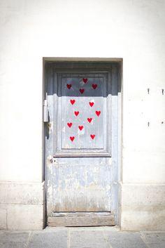 Paris Hearts Door by Making Magique, via Flickr #Photograph #Door #Paris #Hearts interior design, doors, paris, house design, design homes, home interiors, pari heart, design interiors, heart door