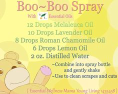 Young Living Essential Oils: Boo Boo Spray Cuts Scrapes Injury