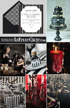 Invitaciones de cumpleaños, invitaciones para cumpleaños, fiesta gótica, cumpleaños gotico  Para Más Ideas Visita: www.LaBelleCarte.com  Online birthday invitations, online birthday cards, gothic party, gothic party ideas, gothic party theme, gothic birthday  For More Ideas Visit: www.LaBelleCarte.com/en