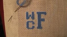 initials for needlepoint belt