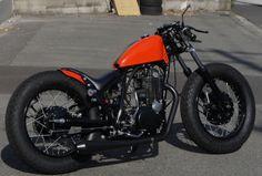 SR400 bobber by Custom Bike Light