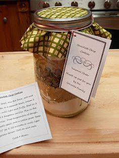 My Simple Country Living: Chocolate Chip Cookie mix-in-a-jar Recipe