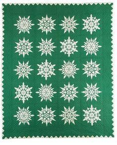 Snowflake Quilt circa 1963 | International Quilt Study Center exhibit