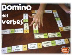 Jeu de mots pour les verbes: DOMINO // Word Work in French