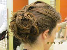 Loose Curly Bun