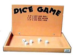 Dice Game - 3 of a kind - small prize  4 of a kind - medium prize  5 of a kind - large prize