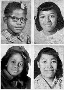 not forgotten -- September 15 1963: on this day the 16th Street Baptist Church bombing: Four children killed at an African-American church in Birmingham, Alabama