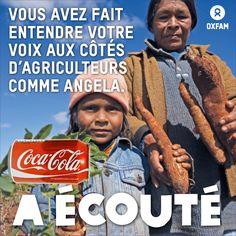 Vous avez fait entendre votre voix aux côtés d'agriculteurs et agricultrices comme Angela, privée de ses terres pour laisser place à des productions sucrières. Coca-Cola, le plus gros acheteur de sucre au monde, vous a écoutés : l'entreprise s'est engagée à une tolérance zéro des accaparements de terres. Au tour de Pepsi et Associated British Foods, maintenant ! http://oxf.am/wkv