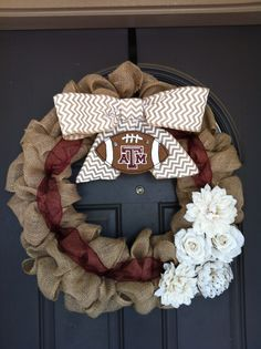 Aggie Football Wreath...saving it on here so that I don't lose the picture!