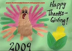 Thanksgiving Handprint & Footprint Art/Crafts - List repinned by @PediaStaff – Please visit ht.ly/63sNt for all (hundreds of) our pediatric therapy pins