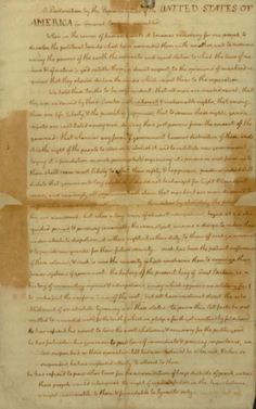Declaration of Independence. Draft in the handwriting of Thomas Jefferson. ([July 4, 1776])