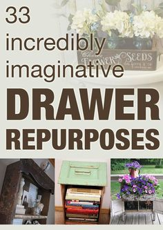 Use those old drawers for something great!