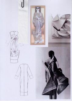 Fashion Sketchbook - fashion design research, fashion sketches & dress development; graduate fashion portfolio // Rachel Raheja