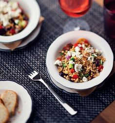 A taste of the Mediterranean. The Greek farro salad at Michael's Genuine Pub is made from the freshest ingredients available.     #MGPUB #quantumoftheseas #thischangeseverything #michaelschwartz http://www.premiercustomtravel.com/cruises/royalcaribbean.html #Travel #Cruising #RoyalCaribbean #Dining #Food