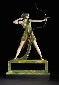 The Archer, circa 1930, depicting the mythical goddess Diana, by Johann Philipp Ferdinand.