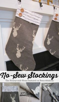 No-Sew Stocking Tuto