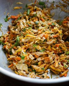 Chopped Thai Chicken Salad. This was really good! I did substitute yellow pepper strips for the papaya because I dont like papaya. Otherwise I made exactly like the recipe