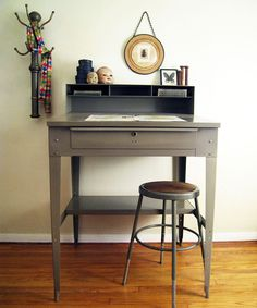 Industrial Factory Drafting Desk : Vintage Levi Strauss & Co.