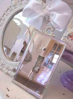 vintage mirror light switch cover