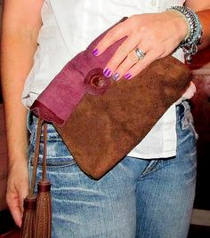 Back of Fall suede clutch