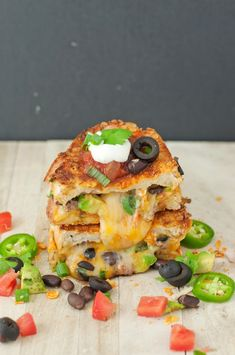 loaded nacho grilled cheese