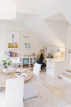 attic office/crafting space.